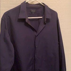 Zara Man Blue Button Down Slim Fit Shirt